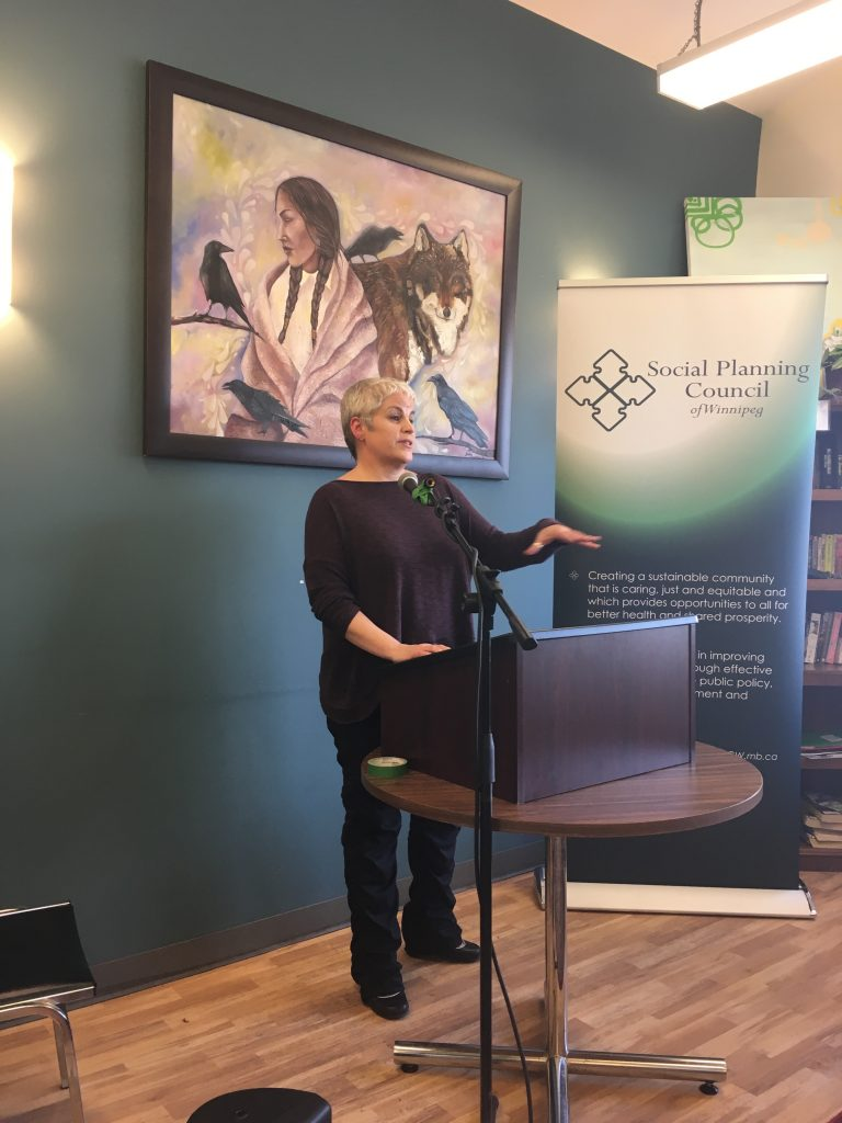 Kate Kehler at Report Launch