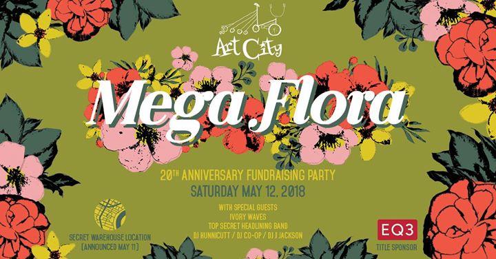 Mega Flora, Art City 20th Anniversary Fundraising Party – Social