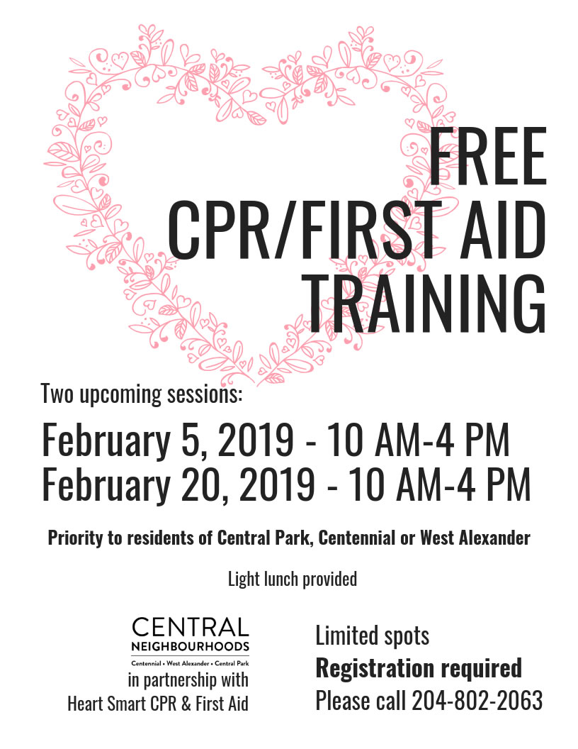 Free CPR/Fist Aid Training on Feb 5 & 20