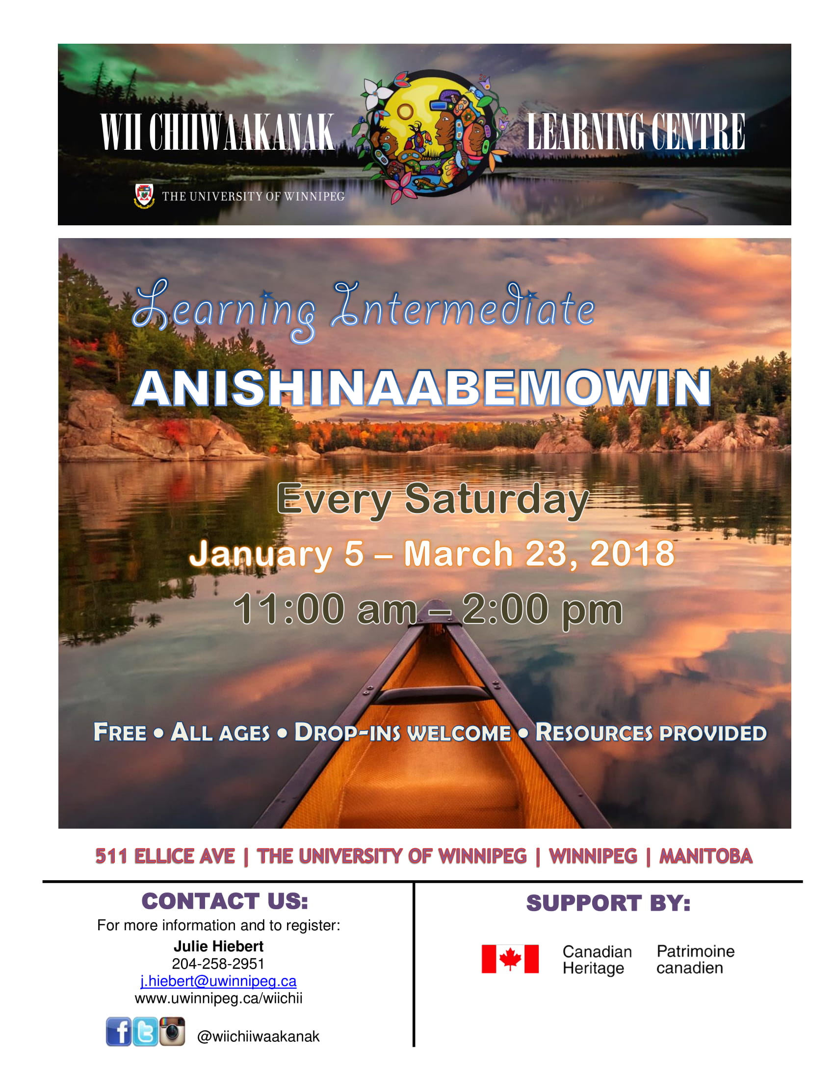 Learning Intermediate Anishinaabemowin Language Poster