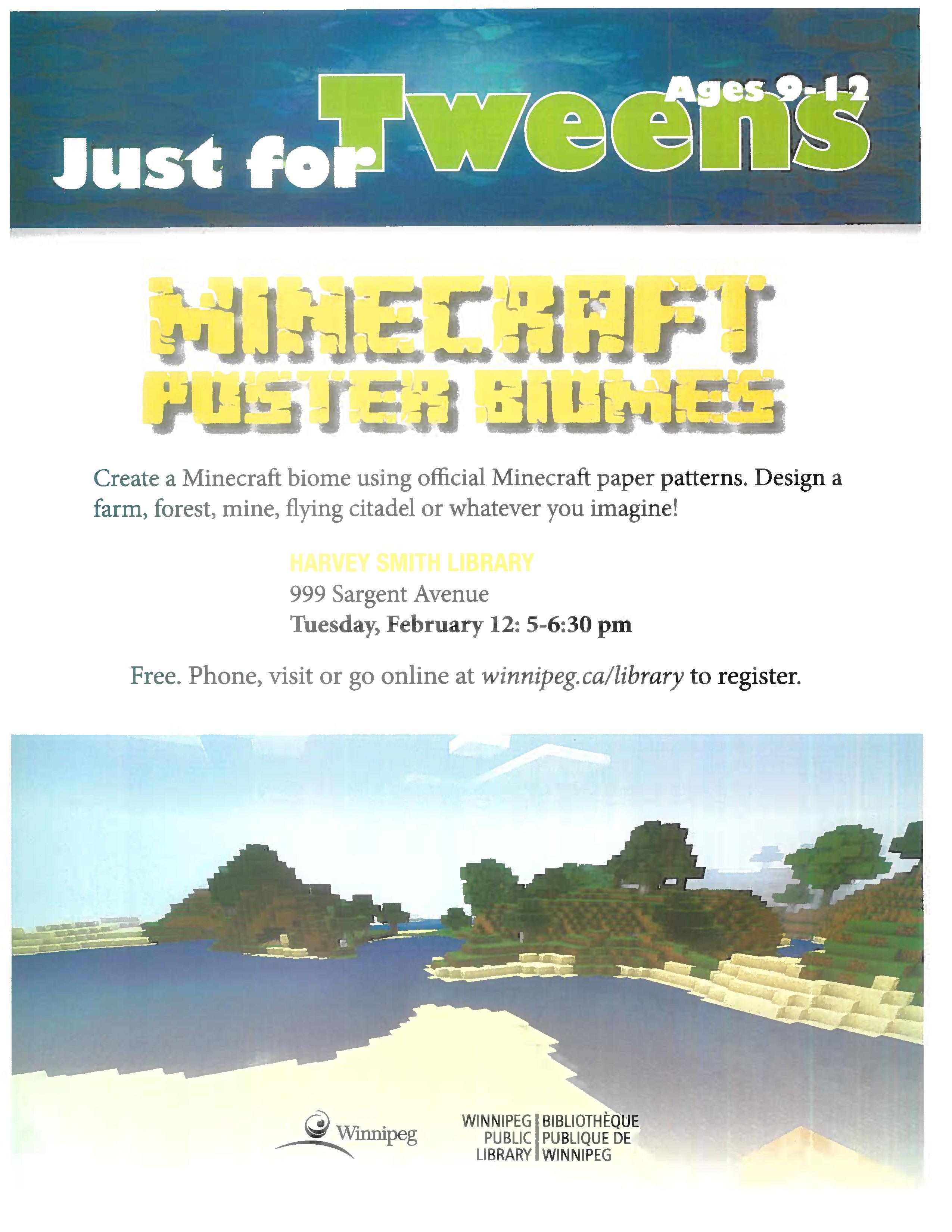 Minecraft Program Poster