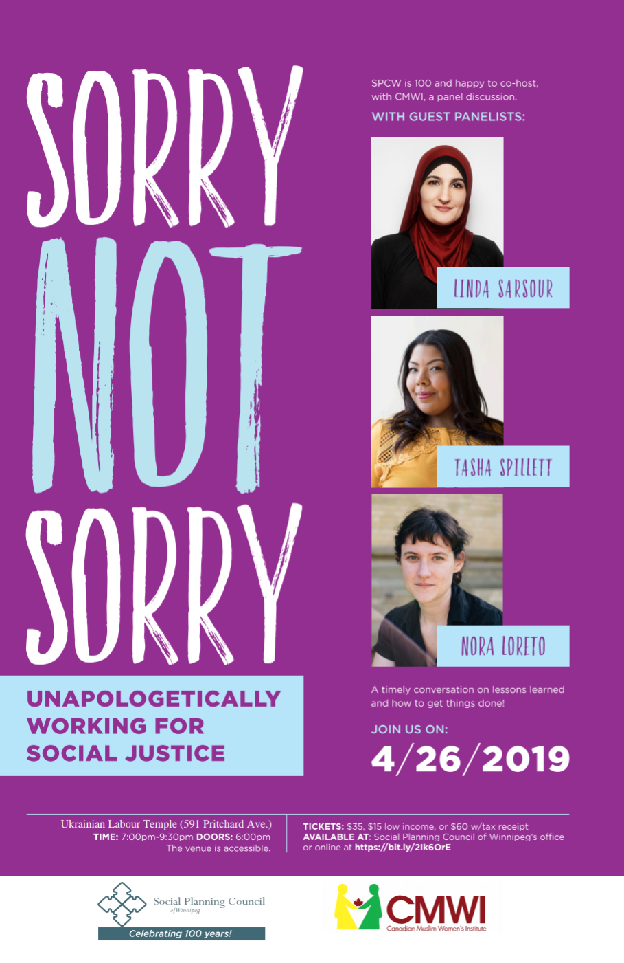 Sorry Not Sorry event poster