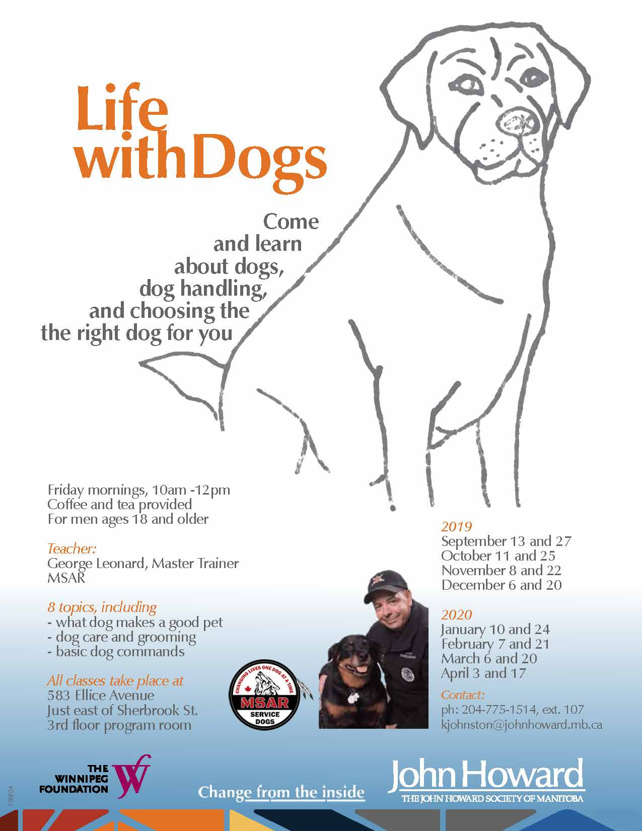 Life with Dogs Program poster