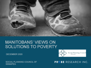 Cover Page from PROBE REPORT - MANITOBANS' VIEWS ON THE SOLUTIONS TO POVERTY 2020